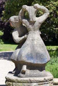 skulptur tanzende mädchen, stadtpark hamburg