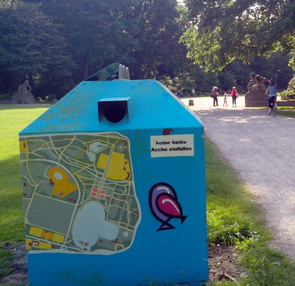 Stadtpark Plan: Wo ist was